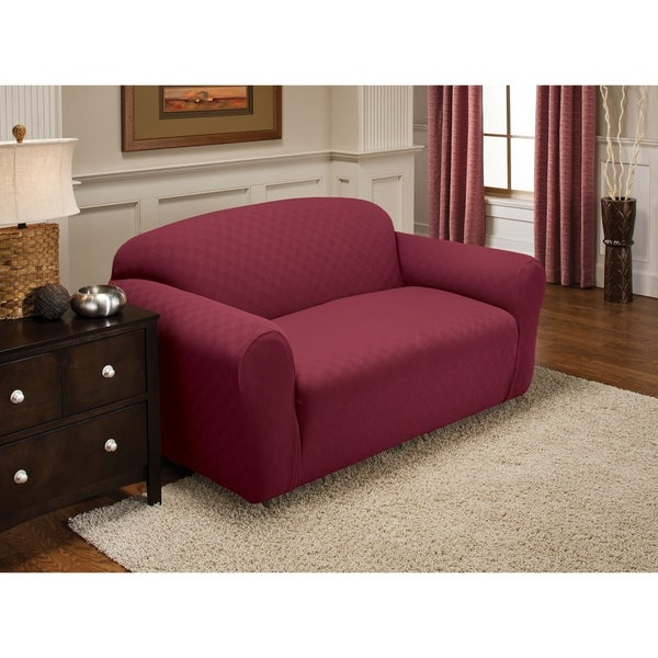 Shop Stretch Sensations Newport Loveseat Slipcover Free