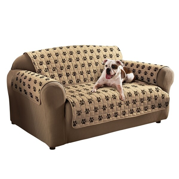 Hurry Up For Your Best Cheap Sofas On Sale: Shop Innovative Textile Solutions Paw Prints Loveseat