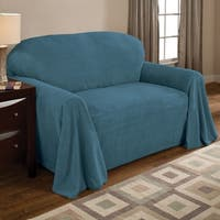 Innovative Textile Solutions Solid Textured Loveseat Throw Slipcover
