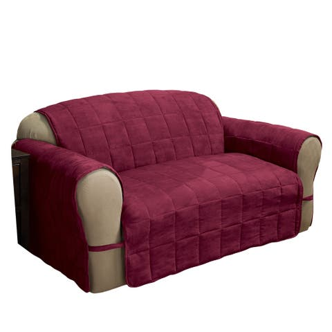 Innovative Textile Solutions Ultimate Faux Suede Loveseat Furniture Protector
