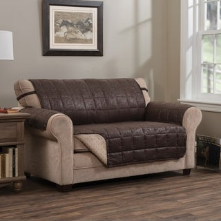Innovative Textile Solutions Brentwood Faux Leather Love Slipcover