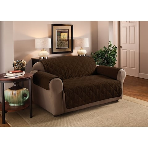 Innovative Textile Solutions Solid Faux Suede Loveseat Furniture Protector