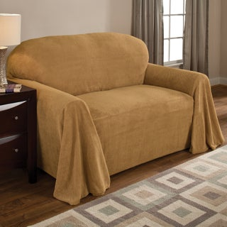 Innovative Textile Solutions Solid Textured Sofa Throw Slipcover (Option: Wheat)