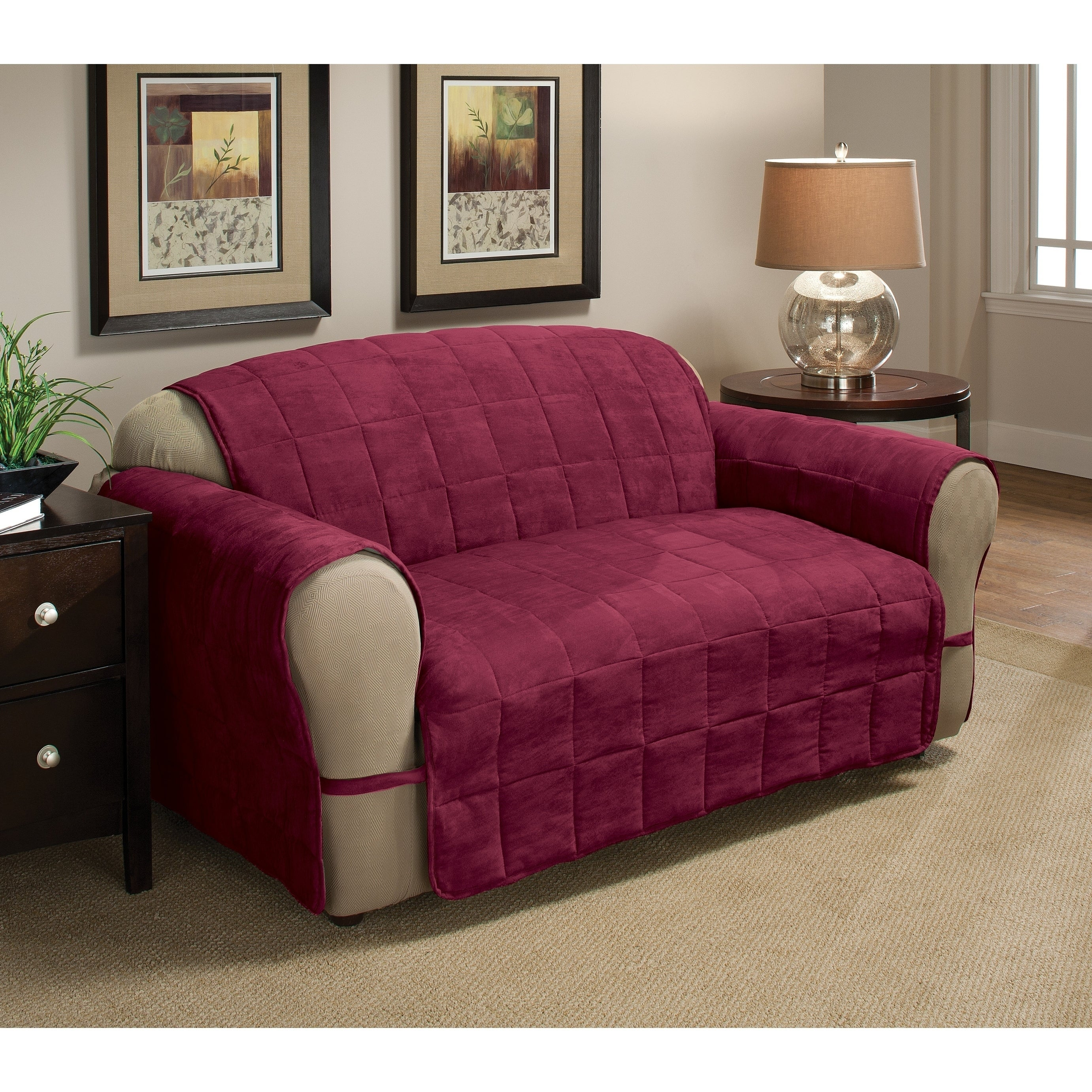 buy faux suede sofa couch slipcovers online at overstock our rh overstock com