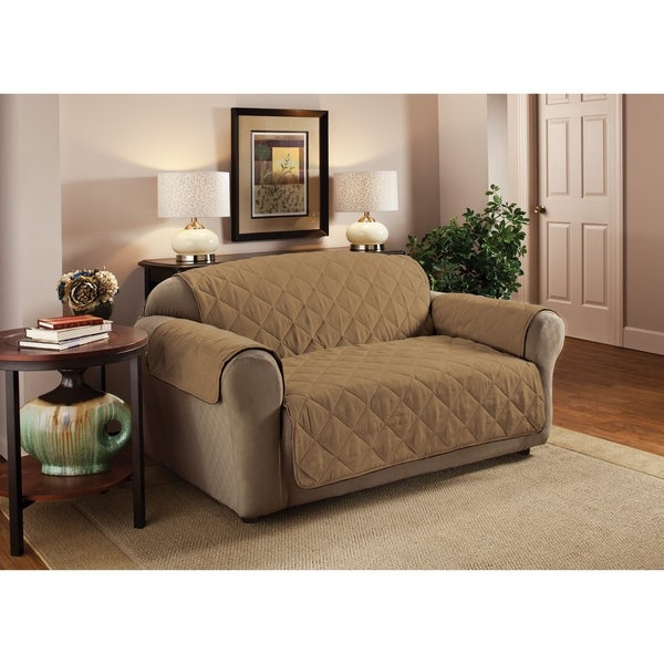 Innovative Textile Solutions Solid Faux Suede Sofa Slipcover