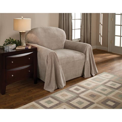 Innovative Textile Solutions Solid Textured Chair Throw Slipcover