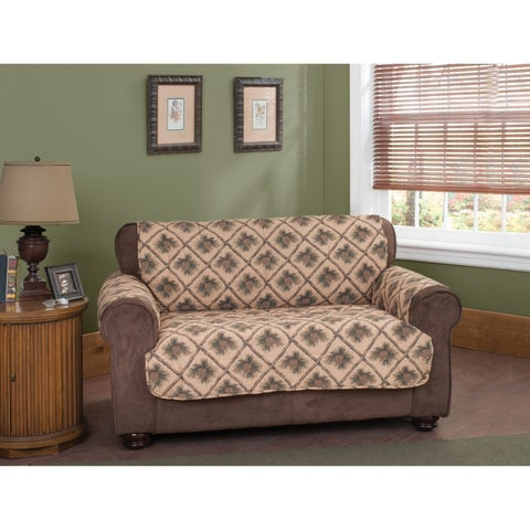 Innovative Textile Solutions Pine Cones Loveseat Slipcover