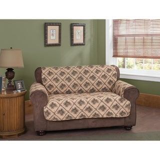 Pine Cones Natural Loveseat Furniture Protector Slipcover