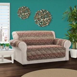 Innovative Textile Solutions Festive Damask Print Loveseat Slipcover
