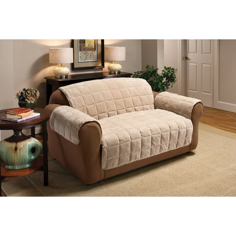 Innovative Textile Solutions Plush Solid XL Sofa Slipcover