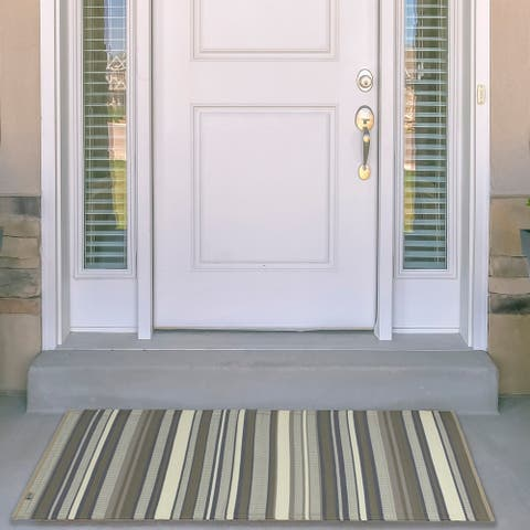Kotter Home Striped Indoor / Outdoor Mat - 5' x 8'