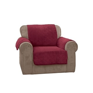 Innovative Textile Solutions Plush Solid Stripe Chair Slipcover