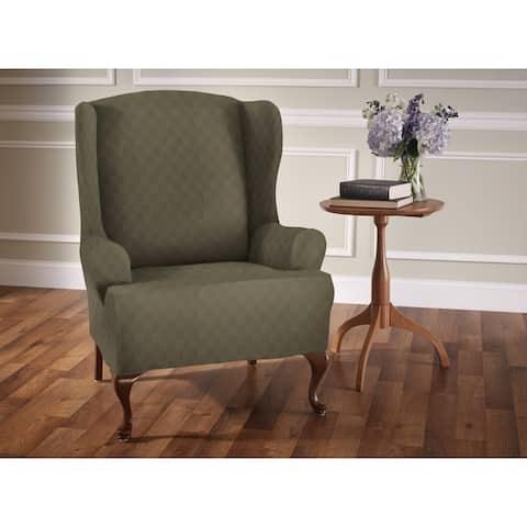 Stretch Sensations Stretch Newport Wing Chair Slipcover - wing chair - wing chair