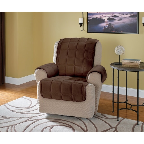 Innovative Textile Solutions Plush Solid Recliner Furniture Protector