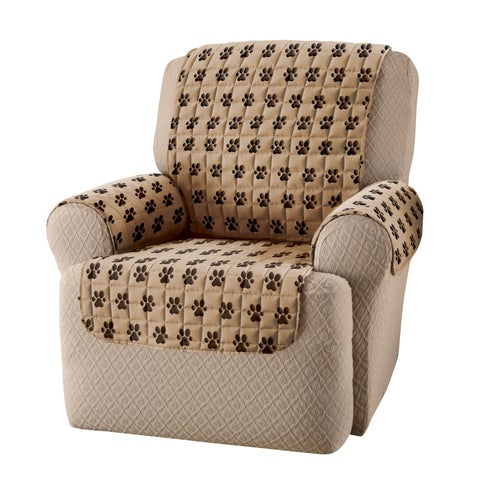 Innovative Textile Solutions Paw Prints Recliner Slipcover - wing chair