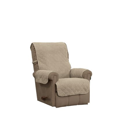 ITS Ripple Plush Secure Fit Recliner Furniture Protector