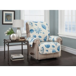 Shells Blue Recliner Furniture Protector Slipcover