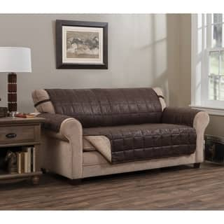 Innovative Textile Solutions Bwood Faux Leather Sofa Furniture Protector