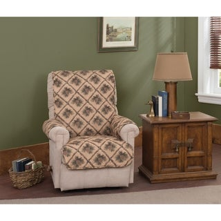 Pine Cones Natural Recliner Furniture Protector Slipcover