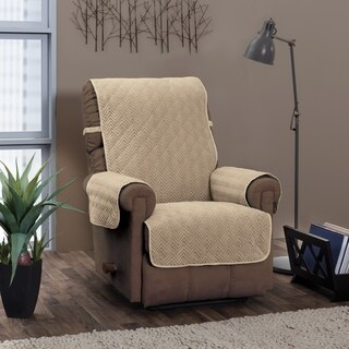 Innovative Textiles Solutions Chevron Solid Recliner/Wing Slipcover - wing chair/recliner