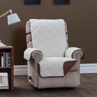 Sinclair Ivory and Chocolate Recliner Furniture Protector Slipcover
