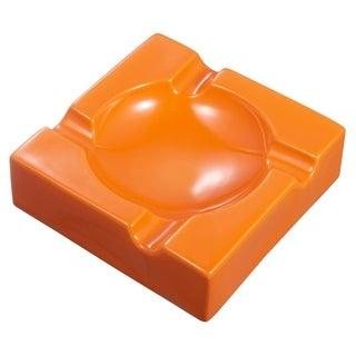 Visol Donovan Orange Ceramic Cigar Ashtray For Patio Use