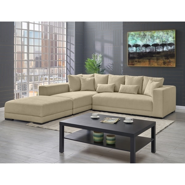 Copper Grove Hamont Creamy Tan Sectional