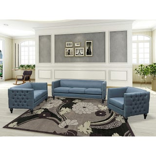 Best Master Furniture 3 Pieces Tufted Living Room Set