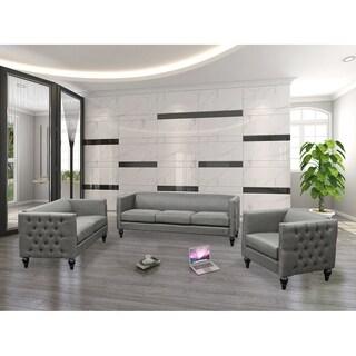 Superior Best Master Furniture 3 Pieces Tufted Living Room Set