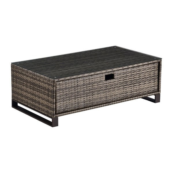 Small Grey Rattan Coffee Table: Shop Tommy Hilfiger Oceanside Outdoor Coffee Table With