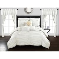 Chic Home Hallstatt 20 Piece Comforter Set Designer Bed in a Bag Bedding, White