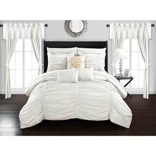 Chic Home Hallstatt 20 Piece Comforter Set Designer Bed in a Bag Bedding, White