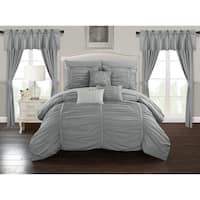 Chic Home Hallstatt 20 Piece Comforter Set Designer Bed in a Bag Bedding, Grey