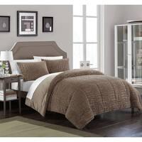 Chic Home Caimani 3 Piece Comforter Set Faux Fur, Brown