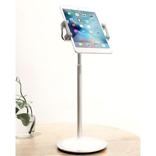 idee Portable, Height & Angle Adjustable, 360° Rotate Mount, Non-slip Clamps, Table Stand for Tablets & Smart Phones, PTS02W