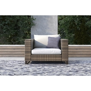 Tommy Hilfiger Oceanside Outdoor Arm Chair, Gray Wicker