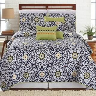 Amrapur Overseas Cadiz 5-Piece Printed Reversible Quilt Set