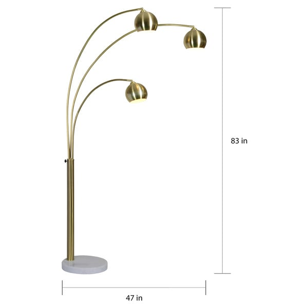 Porch & Den Bendemeer Satin Brass/Gold Floor Lamp