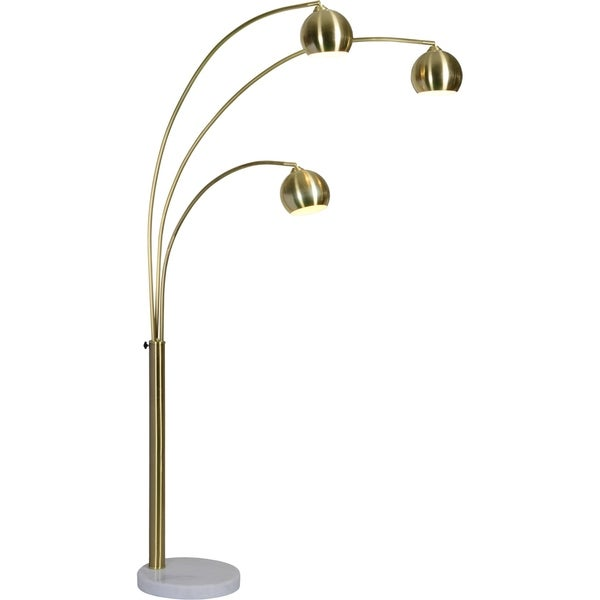 Porch & Den Bendemeer Satin Brass/Gold Floor Lamp. Opens flyout.
