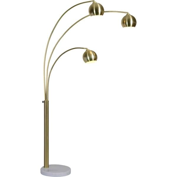Porch & Den Bendemeer Satin Brass/Gold Floor Lamp. Opens flyout.