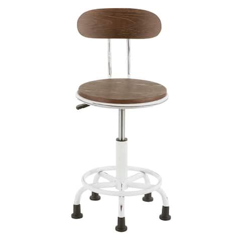 Carbon Loft Goddard Industrial Metal/Wood Task Chair