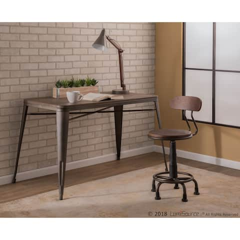 The Gray Barn Daines Industrial Metal/Wood Task Chair