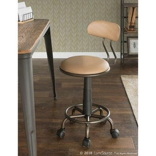 The Gray Barn Scasta Task Chair in Metal and Faux Leather
