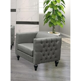 Best Master Furniture Tufted Living Room Arm Chair
