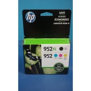 HP 952XL/952 High Yield Original Black, Standard C/M/Y Ink Cartridges,N9K28AN - Multi pack - BK-C-Y-M