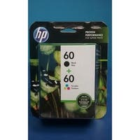 HP 60 Black/60 Tri-Color Ink Cartridges, N9H63FN, 2/Pack