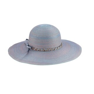 Mya - 100% Paper Straw Wide Brim Sun Hat Sun Styles - AH-001-2-3-BL/PU