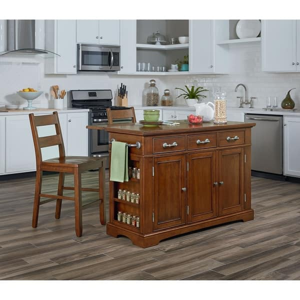 Surprising Shop Osp Home Furnishings Country Kitchen Island With Drop Pabps2019 Chair Design Images Pabps2019Com