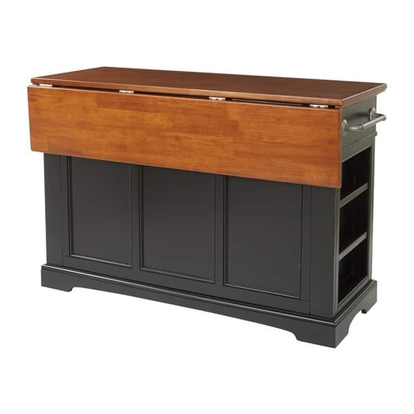 Shop Country Kitchen Island with Drop Leaf and 2 stools - On ...
