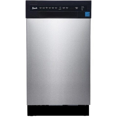Avanti 18 IN Energy Star Compact Dishwasher with 6 WashCycles & 8 PlaceSettings